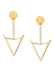 Gold Plated Geometric Hollow Out Stud Earrings