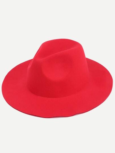 Red Stylish Fedora Hat