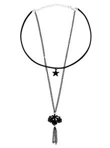 Black Star Pendant Retro Necklace