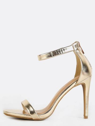 Metallic Single Sole Heels GOLD