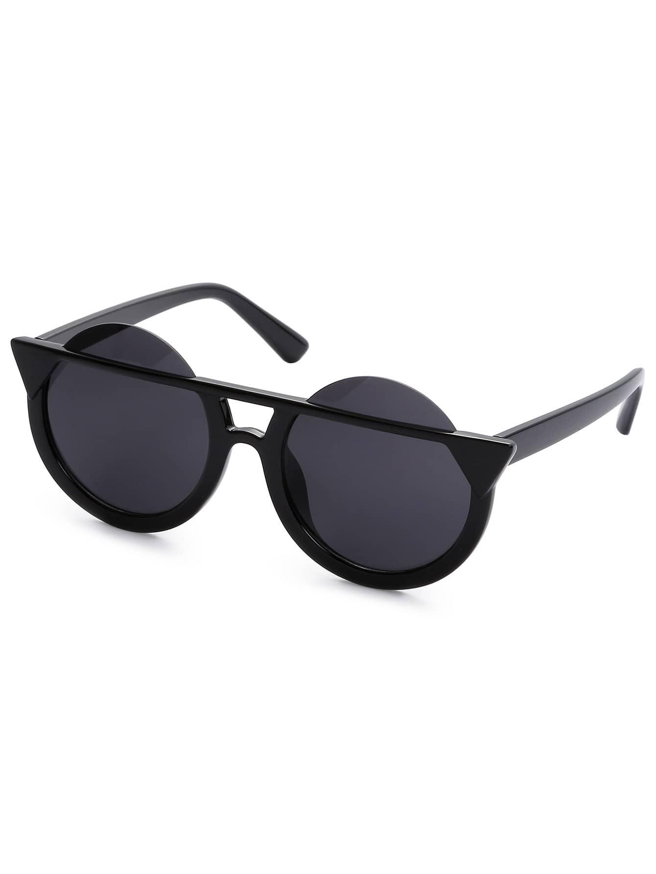 Super Dark Black Round Lens Sunglasses round lens sunglasses