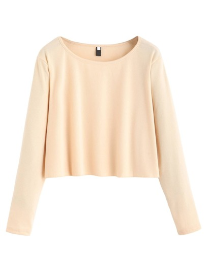 Apricot Drop Shoulder Crop Top