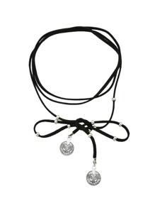 Black Multilayers Braided PU Leather Choker Necklace