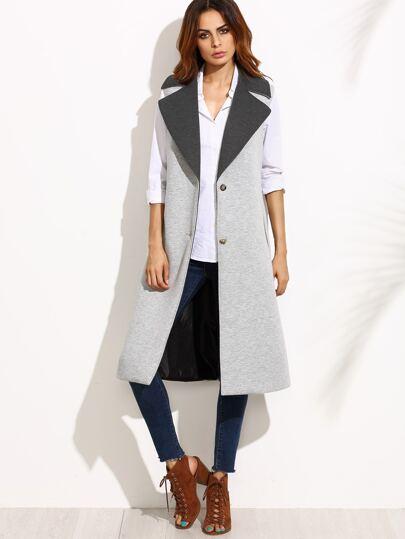 Abrigo sin mangas - gris