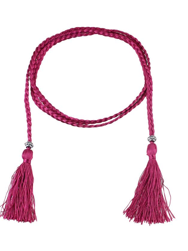 Фото Hotpink Long Boho Casual Tassel Belt. Купить с доставкой