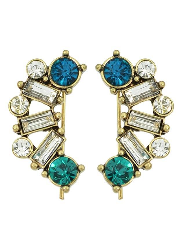 Фото Rhinestone Fancy Long Hanging Stud Earrings. Купить с доставкой
