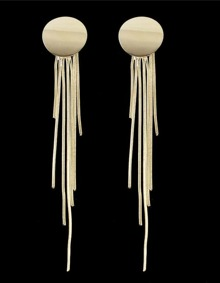 Gold Plated Long Chain Earrings