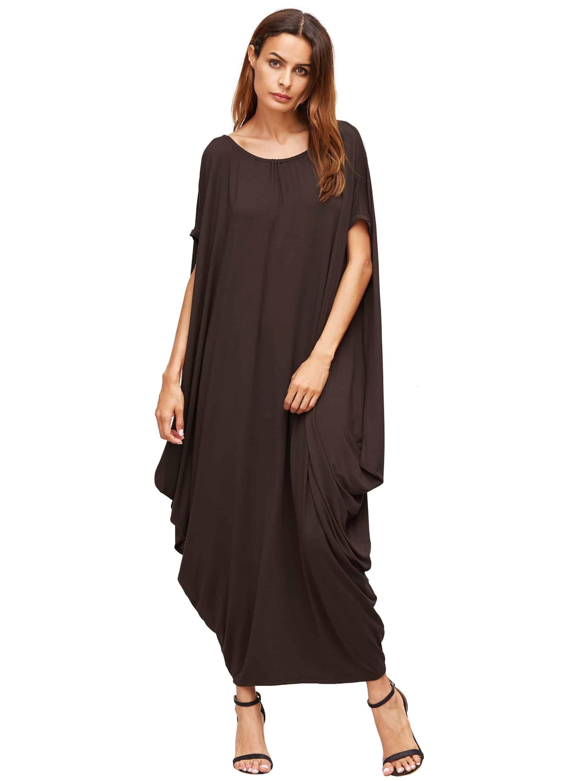 Batwing Cocoon Long Dress