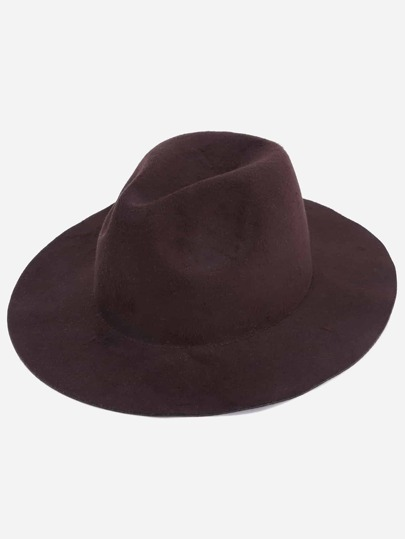 Coffee Stylish Fedora Hat