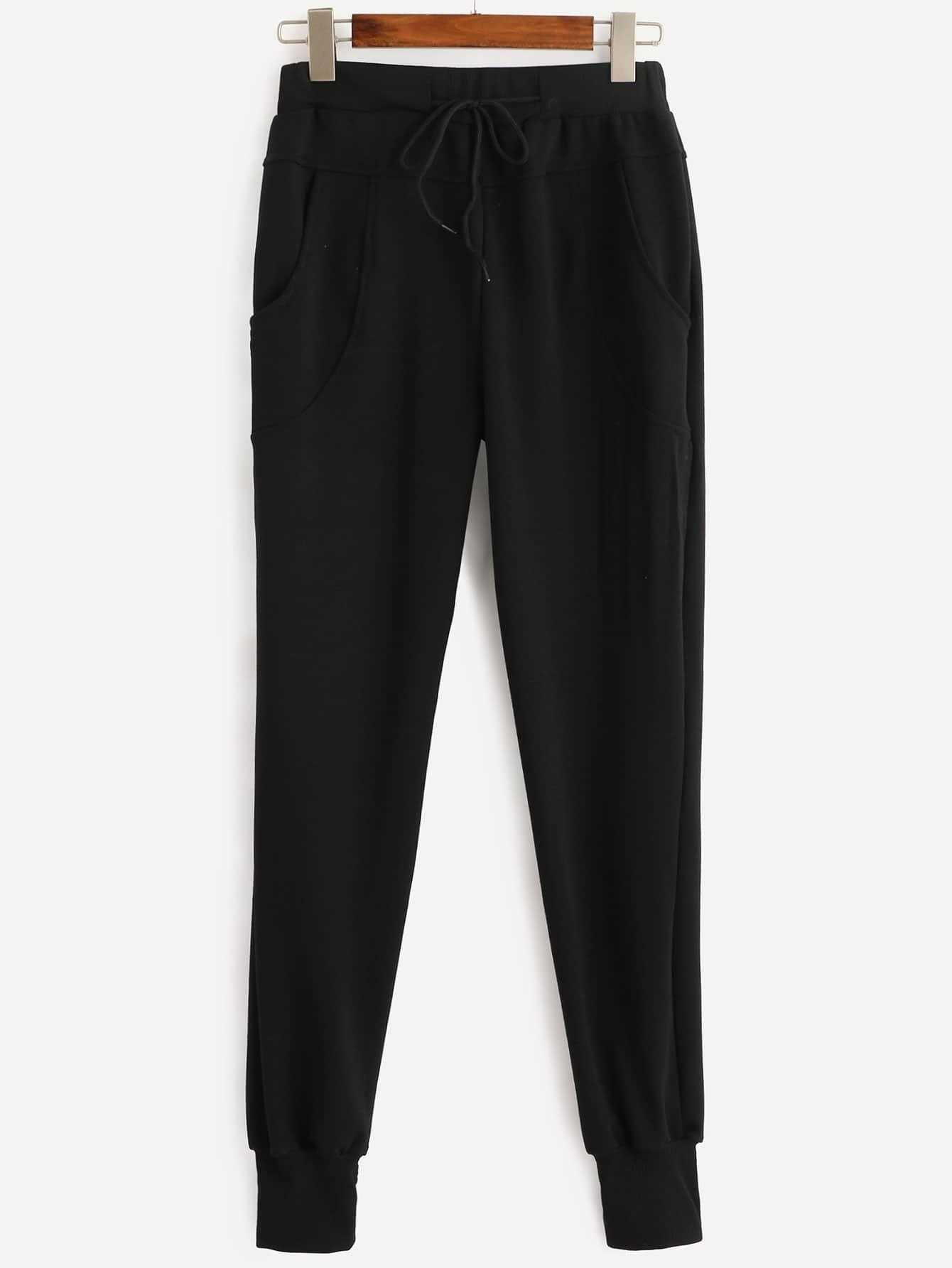 Drawstring Waist Pants RPAN160810101