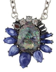 Rhinestone Big Flower Necklace
