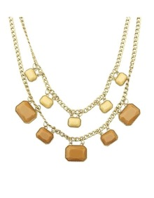 Gold Plated Gemstone Necklace