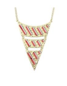 Red Triangle Pendant Necklace