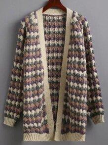 Purple Raglan Sleeve Chunky Coat