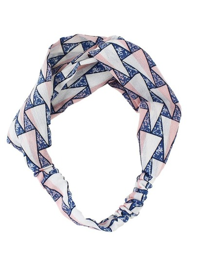 Pink Beach Style Wide Elastic Headband For Women