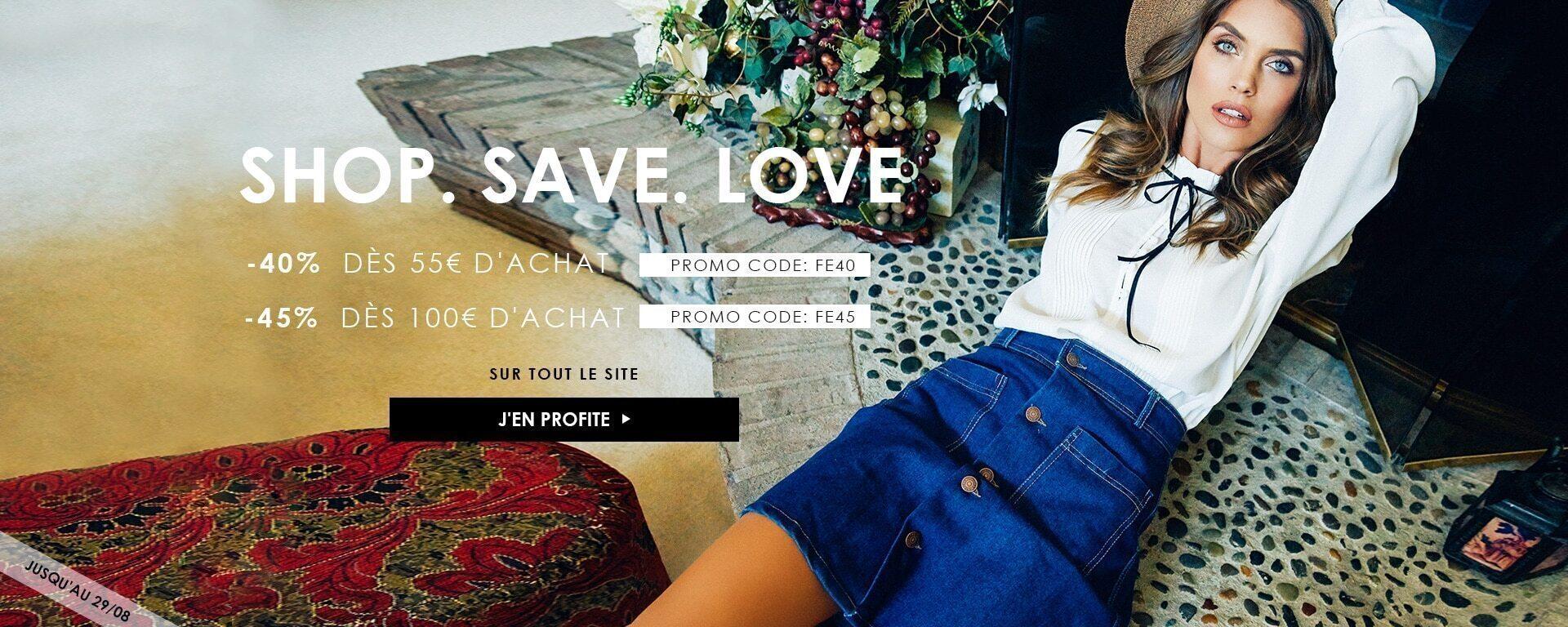 SHOP. SAVE. LOVE