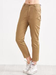 Khaki Straight Leg Pants