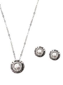 Bijoux forme rond avec stras - argenté