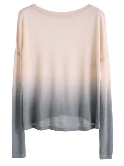 Ombre Drop Shoulder Knit T-shirt