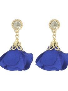 Blue Women Jewelry Flower Drop Earrings
