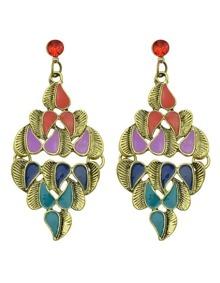 Colorful Enamel Large Drop Earrings