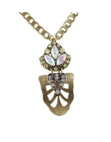 Rhinestone Flower Pendant Necklace