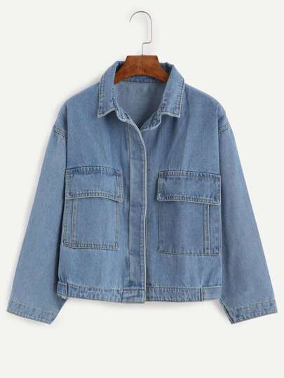Blue Boyfriend Style Denim Jacket