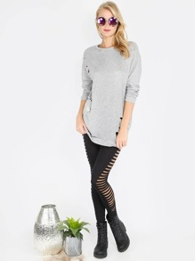 Distressed Sweater Dress GREY