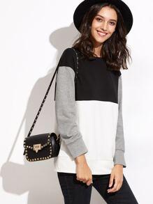 Sweat-shirt manche longue couleur bloc - tricolore