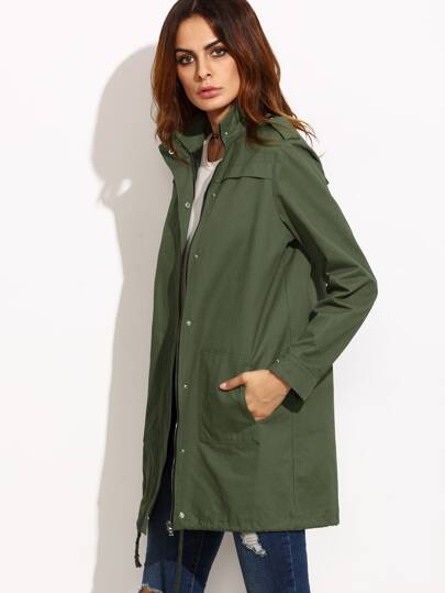 Oliver Green Stand Collar Button Up Utility Coat