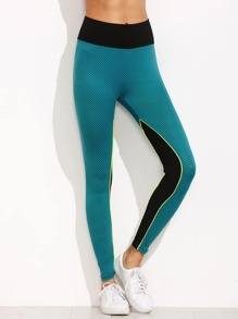 Color Block High Waist Leggings