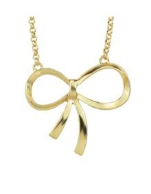 Bow Tie Shape Pendant Necklace