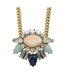 Colorful Stone Short Necklace