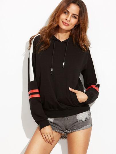 Varsity Striped Hooded Sweatshirt