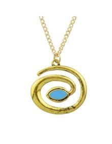 Gold Maze Shape Necklace