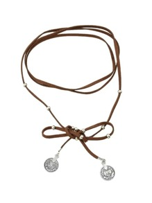Brown Multilayers Braided PU Leather Choker Necklace