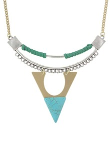 Triangle Shape Turquoise Necklace