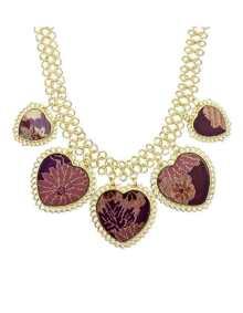 Acrylic Heart Collar Necklace