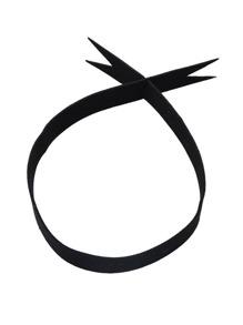 Latest Black Pu Leather Wide Choker Necklace