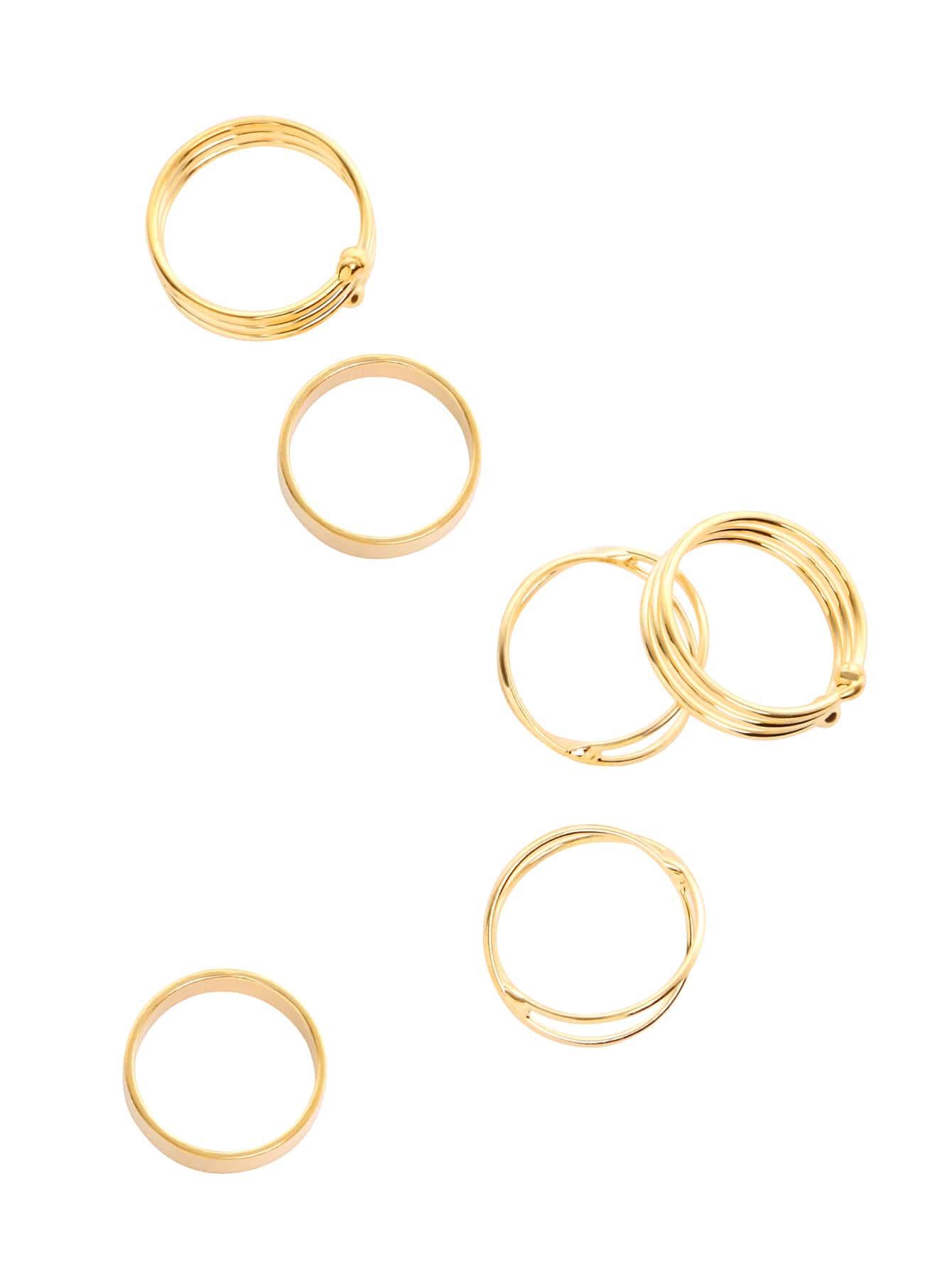 Фото Gold Wrap Ring Set 6PCS. Купить с доставкой