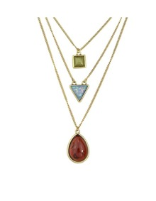 Multilayers Stone Long Pendant Necklace