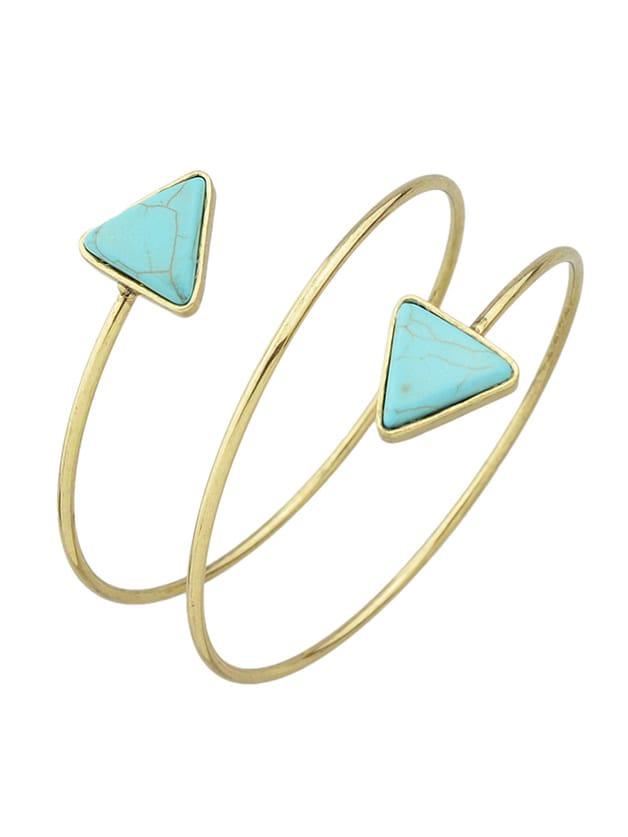 Antique New Imitation Turquoise Cuff Upper Arm Bracelet For Women