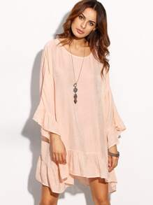 Frill Drop Hem Dress