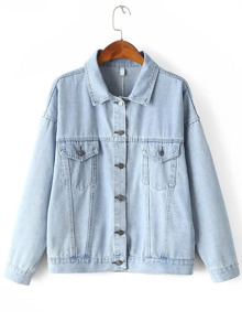 Dropped Shoulder Boyfriend Denim Jacket