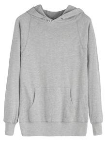 Grey Pocket Hooded Sweatshirt