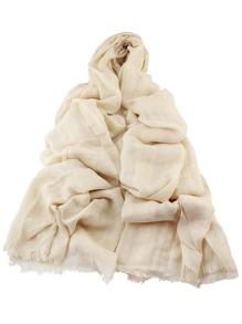 Echarpe longue en coton doux - beige