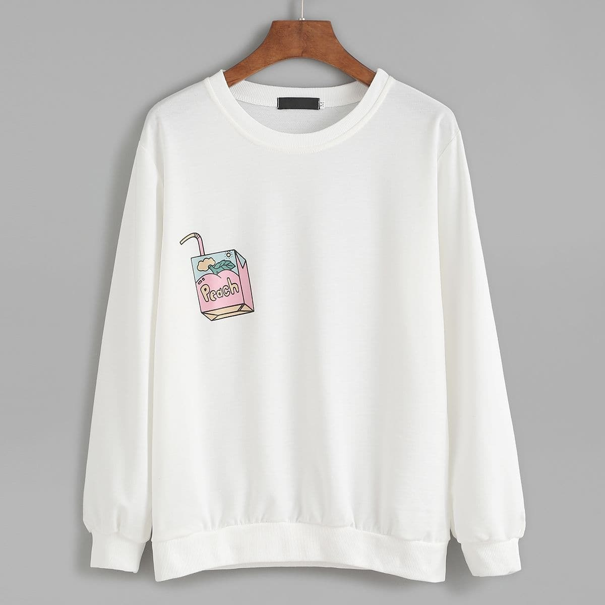 Sweatshirt met kleine print