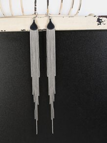 Drop Chain Earrings SILVER