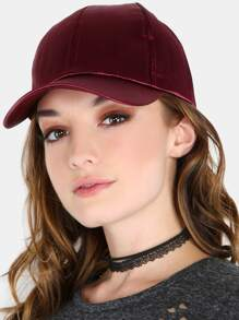 Satin Baseball Cap BURGUNDY