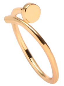 Gold Plated Screw Wrap Ring